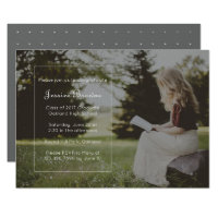 Simply Elegant Graduation Party Photo Card