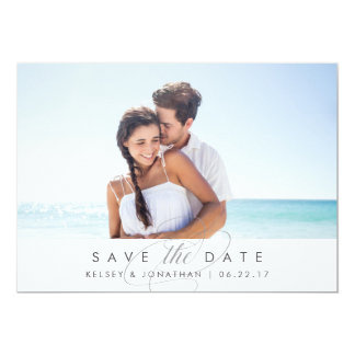 Simply Elegant | Horizontal Photo Save the Date Card