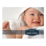 Simply Elegant (midnight) Baby Birth Announcement Post Cards