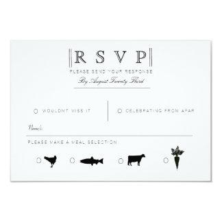 Simply Elegant   Modern Black & White RSVP Card