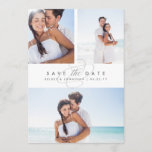 "Simply Elegant Multi Photo Save the Date<br><div class=""desc"">Say yes to these beautiful save the date cards and announce your big day to friends and family in chic style! Flat save the date cards feature three of your favorite engagement photos -- two at the top, and one at the bottom -- with ""save the date"" and your names...</div>"