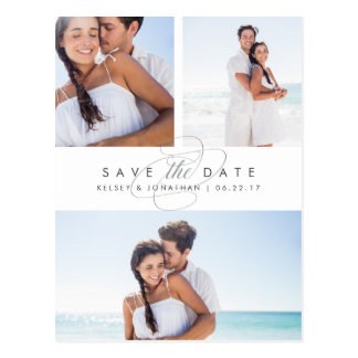 Simply Elegant Multi Photo Save the Date Postcard
