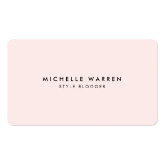 Simply Elegant Pink Blogger Business Card