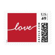 Simply Elegant Red Love Stamp