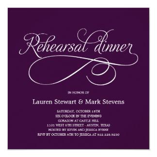Simply Elegant Rehearsal Dinner Invitation Purple
