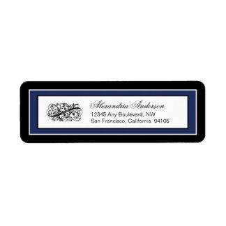 Simply Elegant Return Address Label (black/navy)