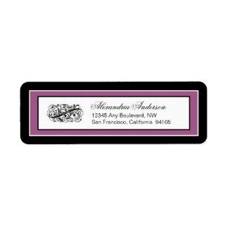 Simply Elegant Return Address Label (black/violet)