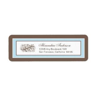 Simply Elegant Return Address Label (brown/blue)