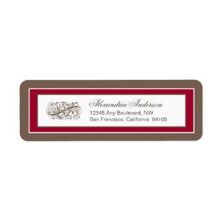 Simply Elegant Return Address Label (brown/red)