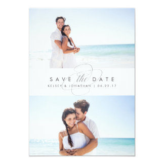 Simply Elegant Two Photo Save the Date Card