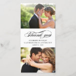 """Simply Elegant Wedding Thank You - White<br><div class=""""desc"""">Share your wedding photos as you send your thank you note with these modern and elegant photo cards that your friends and family will surely adore! Also available in other colors. You can also change the color yourself by clicking the &quot;Customize It&quot; button &gt;&gt; &quot;Edit&quot; &gt;&gt; &quot;Background Color&quot;, and then...</div>"""