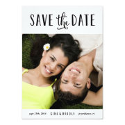 """Simply Engaged photo save the date card 5"""" X 7"""" Invitation Card"""