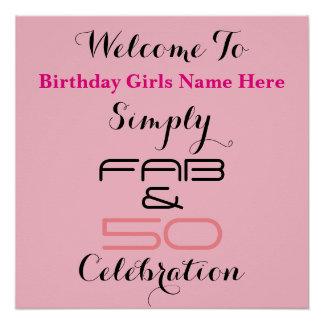 Simply Fab & 50 Birthday - Poster