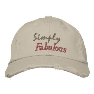 Simply Fabulous Embroidered Hat
