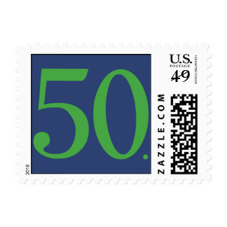 Simply Fifty Navy Postage