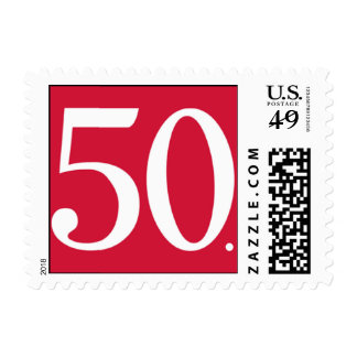 Simply Fifty Red Postage Stamps
