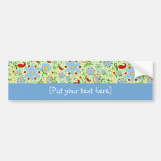 Simply Flowers - Customize [Put your text here] Bumper Stickers