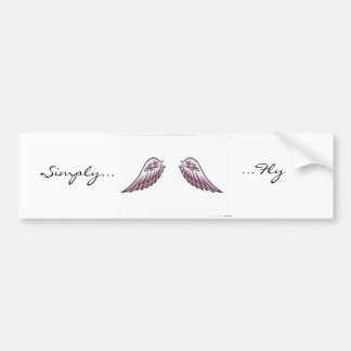 Simply..., ...Fly Car Bumper Sticker