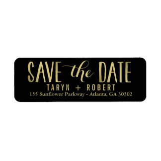 Simply Forever EDITABLE COLOR Save The Date Label