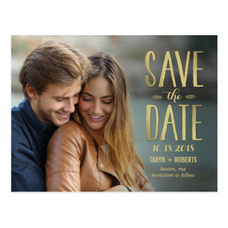 Simply Forever Photo Save The Date Postcard