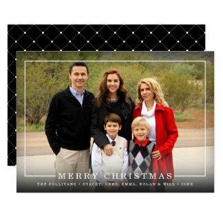 Simply Framed   Holiday Photo Card