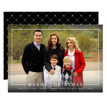 Christmas Themed Simply Framed | Holiday Photo Card