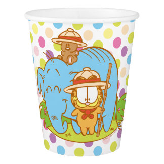 Simply Garfield and Pooky with a Blue Elephant Paper Cup