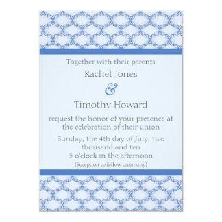 Simply Glamourous Wedding Invite, Cornflower Blue Card
