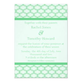 Simply Glamourous Wedding Invite, Kelly Green Card