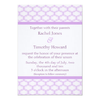 Simply Glamourous Wedding Invite, Lavender Card