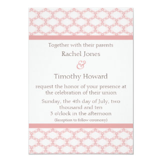 Simply Glamourous Wedding Invite, Light Pink Card