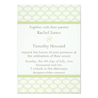 Simply Glamourous Wedding Invite, Sage Green Card