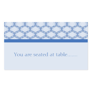 Simply Glamourous Wedding Placecard, Blue Business Card