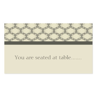 Simply Glamourous Wedding Placecard, Espresso Business Card