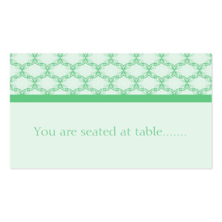 Simply Glamourous Wedding Placecard, Kelly Green Business Card