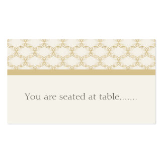 Simply Glamourous Wedding Placecard, Latte Business Card