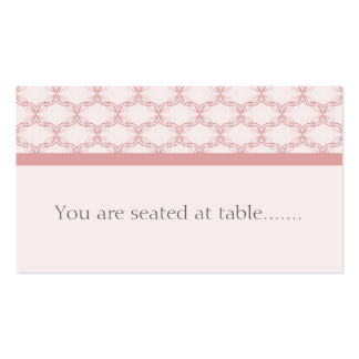 Simply Glamourous Wedding Placecard, Light Pink Business Card