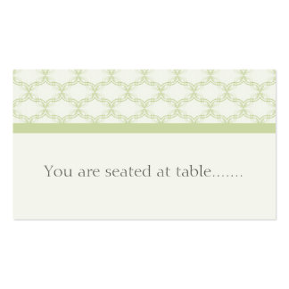 Simply Glamourous Wedding Placecard, Sage Green Business Card
