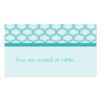 Simply Glamourous Wedding Placecard, Turquoise Business Card