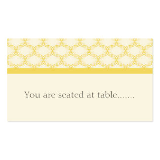 Simply Glamourous Wedding Placecard, Yellow Business Card
