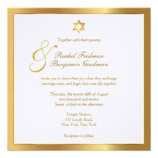 Simply Gold - Jewish Wedding Invitation