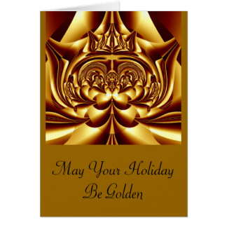 Simply Golden Holiday Blank Card