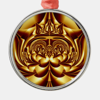 Simply Golden Round Ornament