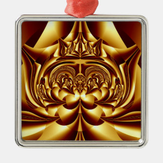 Simply Golden Square Ornament