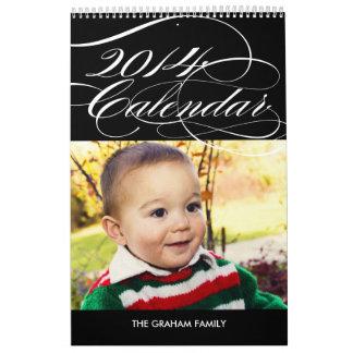 Simply Gorgeous 2014 Photo Calendar - Black