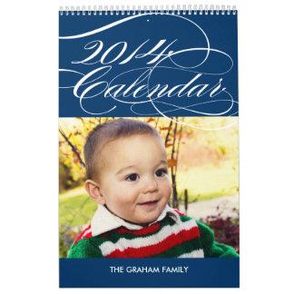 Simply Gorgeous 2014 Photo Calendar - Navy