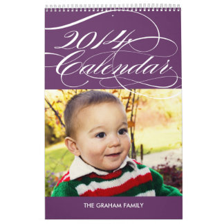 Simply Gorgeous 2014 Photo Calendar - Purple