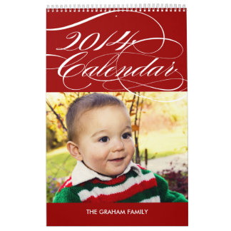 Simply Gorgeous 2014 Photo Calendar - Red