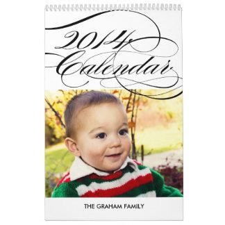 Simply Gorgeous 2014 Photo Calendar - White