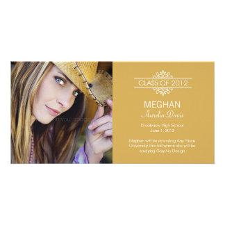 Simply Gorgeous Graduation Announcement Custom Photo Card